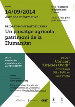 Jornada informativa sobre la candidatura del Priorat a patrimoni de la humanitat